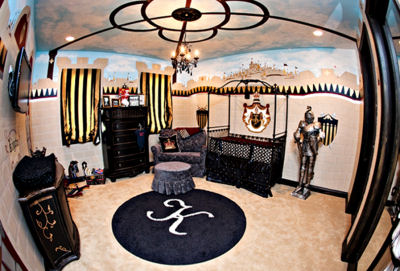 Baby boy king castle nursery theme room fit for a prince