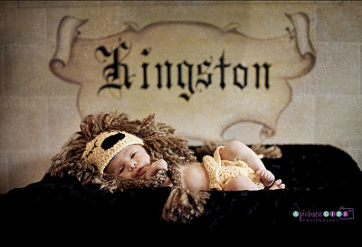 King themed newborn baby boy photo shoot by Ashley of A Picture Life Photography