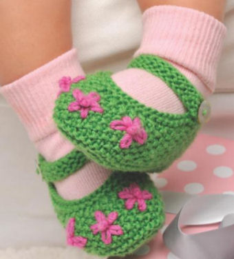 Knit baby booties knitting patterns knitted