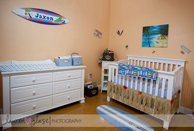 Baby surfing theme nursery
