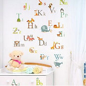 Alphabet letter baby nursery wall stickers and decals
