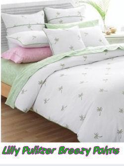 Lilly Pulitzer Bedding Breezy Palm Tree Print Comforter Set