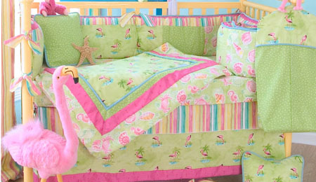 Lilly Pulitzer Baby Bedding Coral Pink Flamingo Nursery
