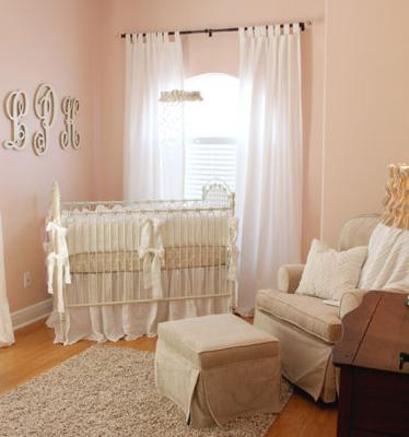 Elegant, vintage antique white and pink nursery for a baby girl, Lily Kate.