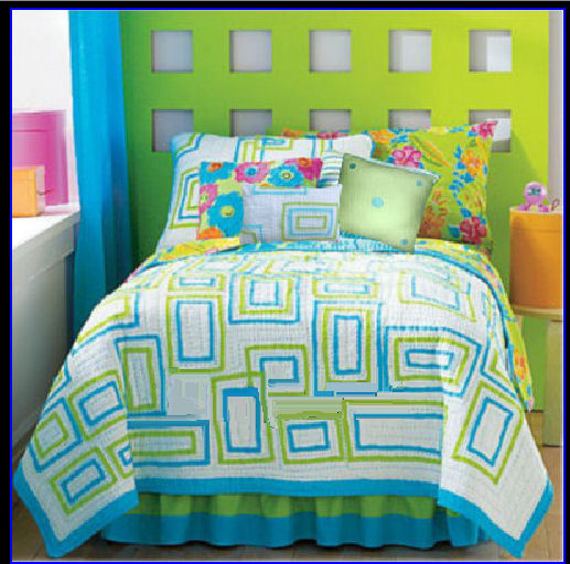 Color of the year turquoise part 2 for Blue and green girls bedroom ideas