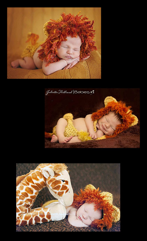 Lion baby costume crochet pattern