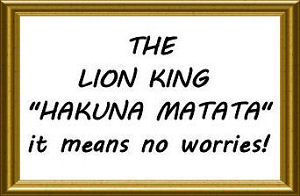 Wall decals and stickers with quotes from the Lion King for the baby nursery wall