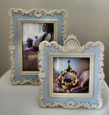 Beautifully framed maternity photos in a Little Prince's Nursery Lair