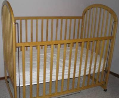 Little Folks Maple Drop Side Baby Crib