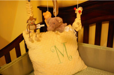 M J's Personalized Pillow and Crib Mobile