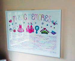 Personalized princess artwork featuring baby memories by Making Memories