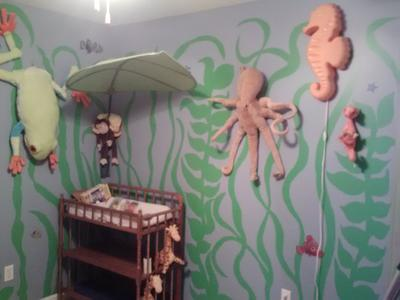 The 3D Marine Life in our baby's Under the Sea Nursery makes you feel like you're really in the ocean