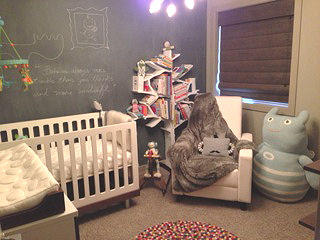 Monster nursery theme for a baby boy with Ugly Doll and Bla Bla items and a giant Zook