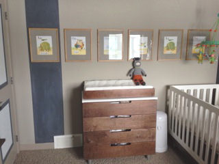 Baby boy monster theme nursery room with modern Oeuf furniture Ugly Doll and Bla Bla items and a giant Zook