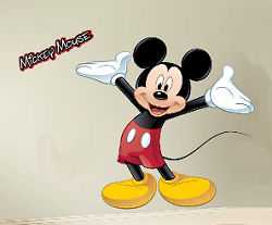 Giant Disney Mickey Mouse Wall Decal with Name Sticker