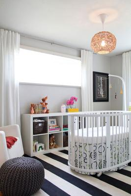 Mila's contemporary nursery designed by is edgy and adorable with an underlying musical influence.