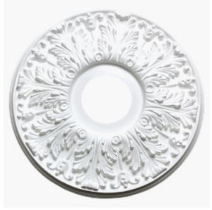 Paintable chandelier baby nursery room ceiling medallion