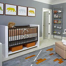 Modern baby bear nursery theme
