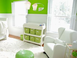 Sublime Modern Lime Green and Nursery- A Modern Nest for Our Baby