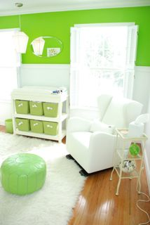 Cozy Modern Lime Green and White Baby Nursery Decor