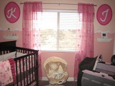 Modern yet vintage pink nursery decorated for our baby girl