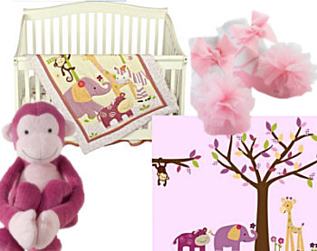 pink girl monkey business bedding pink monkey baby bedding crib nursery set