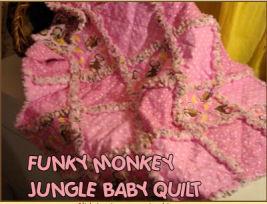 monkey baby quilt crib pattern panel block