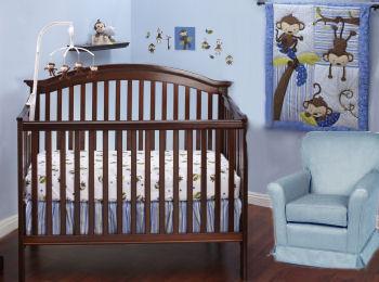 Baby blue monkey nursery ideas for a baby boy