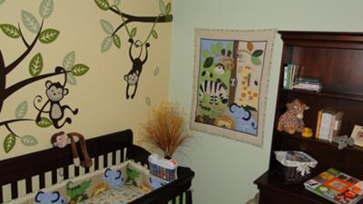Fun Monkey Business Baby Nursery Theme w Custom Jungle Safari Monkey