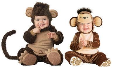 Comfortable monkey baby costumes