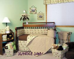 monkey theme baby crib mobile bedding set
