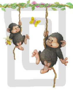 monkey wall decals stickers nursery decorations