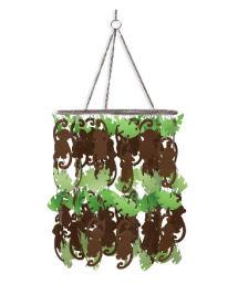 Monkey baby nursery ceiling light fixture chandelier