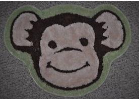 funky monkey monkeying around baby nursery rug
