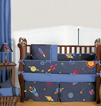 Baby Boy Rocket Ship Bedding