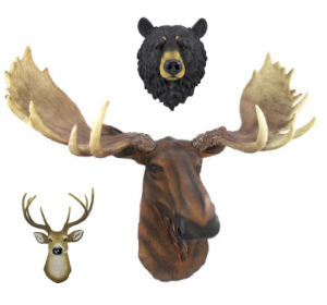 Moose black bear white tail deer wall decorations for the rustic log cabin baby nursery room