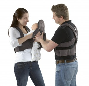 morph harness and pod baby carrier for moms and dads