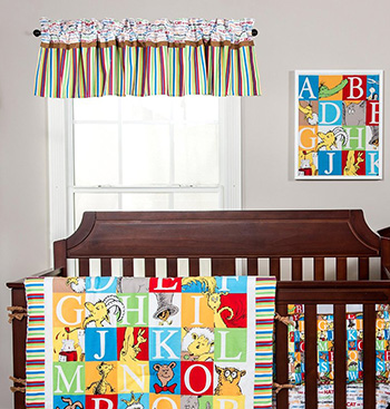 ABC Baby Dr Seuss nursery theme ideas décor baby crib bedding