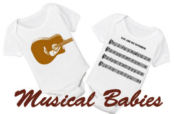 Musical theme baby onesie romper ideas