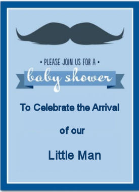 Vintage baby boy mustache theme baby shower invitation ideas