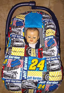 nascar infant carrier baby seat cover