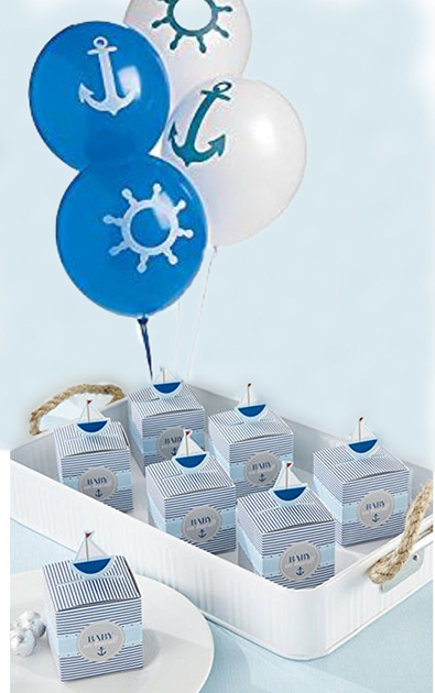 Nautical theme baby shower decoration ideas