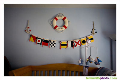 nautical nursery ideas baby boy red white blue themed room bedroom