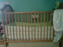 Simmons Baby Crib Upper Track Top Guides in Natural Color