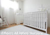 all solid white baby nursery decor ideas picture