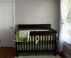 lime green gray and white damask neutral paint baby nursery room picture