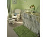 pale green and white neutral serene baby nursery picture decor