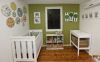 blue and green modern ikea baby neutral boy nursery picture