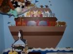 Noah s Ark twin baby nursery wall mural painting