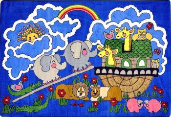 Faith Bible based Noahs Ark nursery rug
